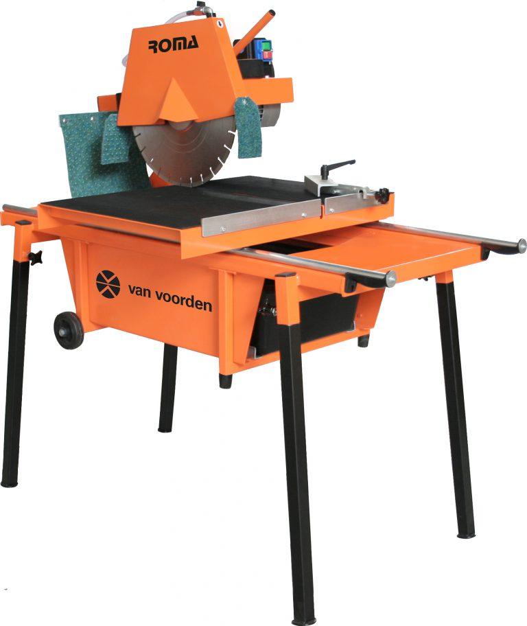 steenzaagmachine-grindtegel-zaag-diamant-robuust-zware-materialen-zaagwagen-krachtstroom-transport-wielen-roma-voorden